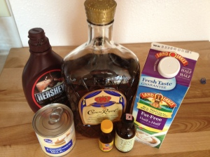 Ingredients for Bailey's