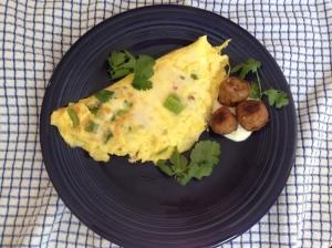 omelets and falafels