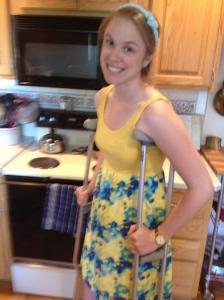 crutch girl