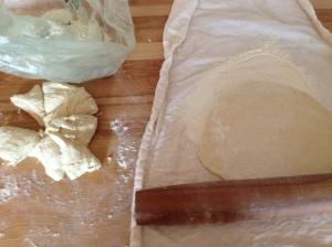 rolling tortillas