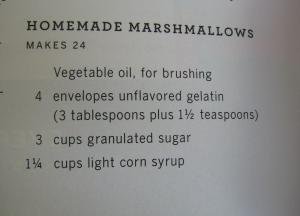 homemade marshamallows