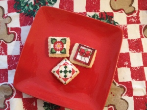 quilted cookie plate