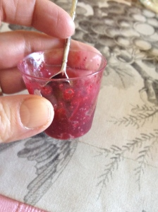blackberry tea sorbet