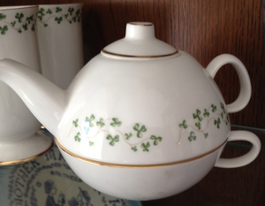 Irish teapot and cup