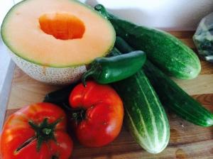 melon gazpacho ingredients