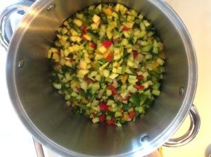 zesty zucchini relish prep